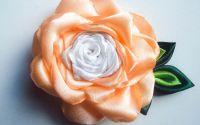 Idila de Vara - floare textila saten portocaliu