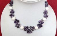Colier din ametiste violet