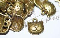 Pandantiv cap de pisica bronz