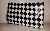 Geanta Eco alb+negru