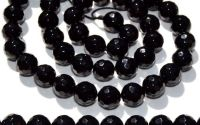 Sfere onix negru fatetat 6 mm
