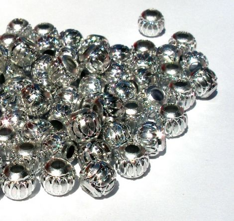 Margele Aluminiu 6 mm - Argintiu
