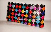 Geanta eco negru-multicolor- 30 lei