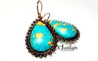 Mosaic Copper Earrings