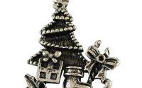 Pandantiv de Craciun argintiu antichizat