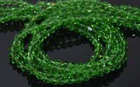 10 Margele cristal biconic 4 mm verde peridot
