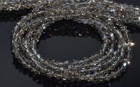 10 Margele cristal biconic 4 mm fumuriu