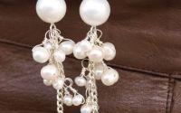 Cercei argintati cu perle de cultura