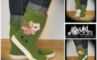 Cizme crosetate de strada Uki-Crafts-GO-Green