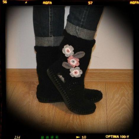 Cizme crosetate de strada Uki- Fleur-Noir