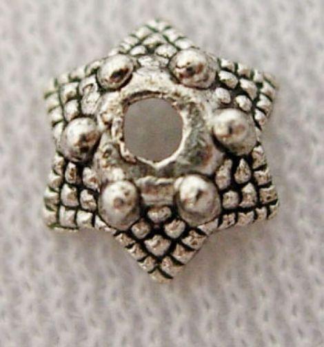 Capacele Argint Tibetan Argintiu Antichizat 7 mm
