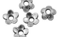 10buc Capacel Floare Argint Tibetan 6.5 mm