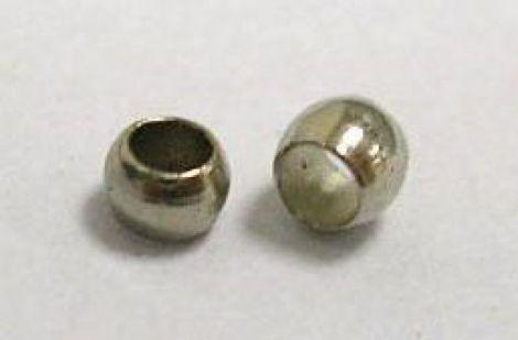 100buc Crimp Rotund 2 mm - Argintiu Inchis