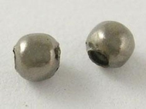 10buc Distantier metalic 2.5 mm - Argintiu Inchi