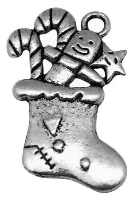 Pandantiv sosetuta cu dulciuri argintiu antichiza