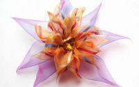 Inima Medusei - agrafa floare textila