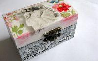 cutie lemn decorata