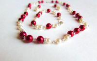 Set elegant perle si strasuri Eleganta Regala