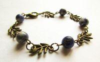Bratara Frunze Albastre - frunze bronz sodalit