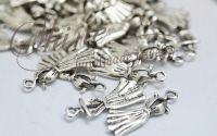 Charm rochita argintiu antichizat