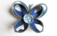 Brosa Fluturas - fermoar bleu