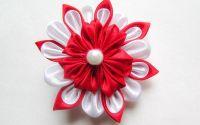 Brosa Doina - floare textila kanzashi