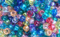 Margele plastic transparente mix 9 x 6mm 100 buc