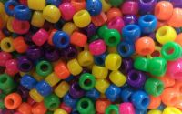 Margele plastic Neon Mix 9 x 6 mm 100 buc