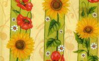 Servetel Floarea soarelui cu maci