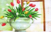 Servetel Vaza cu lalele