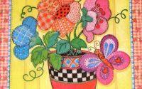 Servetel Vaza cu Flori