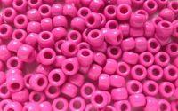 Margele plastic Roz inchis 9x6 mm 100buc