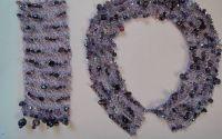 Set bijuterii din sarma crosetata cu margele