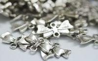 Charm fundita argintiu antichizat