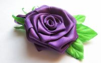 Brosa Purple Rose - trandafir saten mov