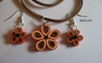 Quilled flowers set