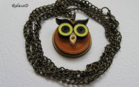 Quilled owl necklace