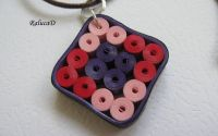 Square quilled necklace