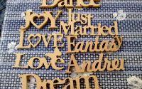 Litere din MDF