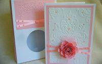 Set felicitare si cutie - Botez roz