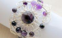 Bratara Purple Flower