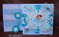 Set felicitare si cutie - Botez albastru