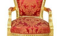 Scaun baroc lemn masiv cu tapiserie rosie