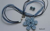 Quilled earrings and necklace set