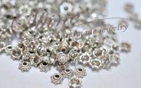 Capacele argintiu antichizat 5x2mm