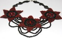 "Colier ""Red and Black around my neck"""