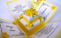Invitatie nunta cutiuta 3D