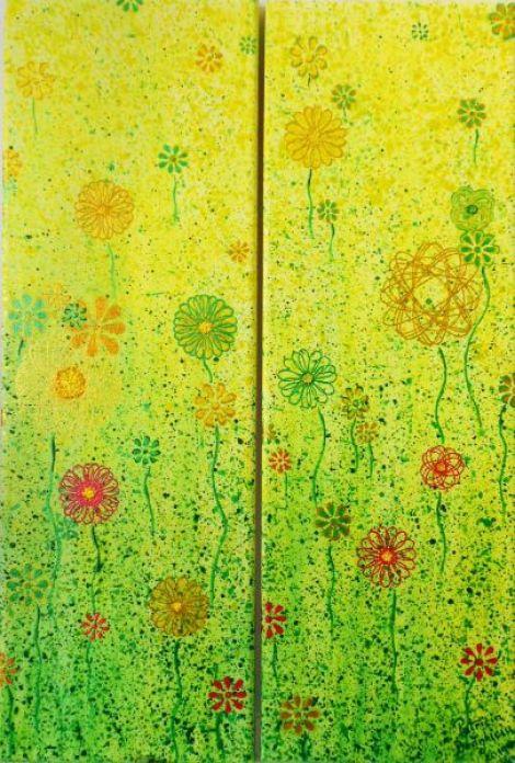 Tablou cu flori stilizate