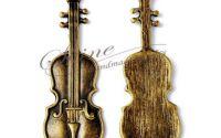 Pandantiv vioara bronz antichizat