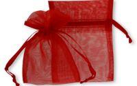 Saculet organza rosu 10 x 14 cm